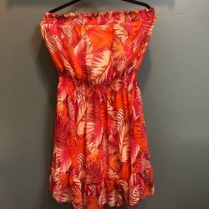 Strapless Tropical Dress